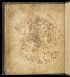 Planisphere of the Northern and Southern Hemispheres, in a ...